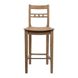Suffolk Bar stool with back rest, H103 x W44 x D49cm, seasoned oak