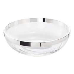 Elegant Bowl, H5 x W16cm, crystal and sterling silver