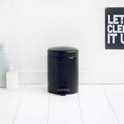 newIcon Pedal bin, 5 litre, matt black