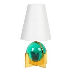Globo Vanity lamp, W22.9 x H45.7cm, green/brass