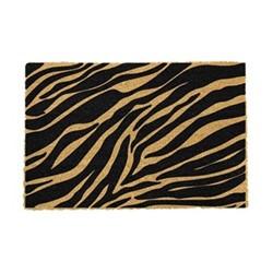 Zebra Print Doormat, 60 x 40cm, natural/black