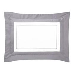 Lutece King size pillowcase, 50 x 90cm, platine