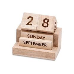Hansa Wooden calendar, 11 x 12 x 9cm, mango wood