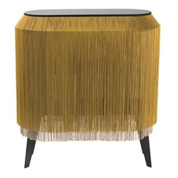 Baby Alpaga Side table, H72 x L66 x Dep27cm, chic gold