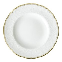 Darley Abbey Pure Gold Plate, 16cm, white/gold