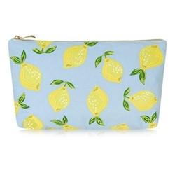 Lemons Pouch, H20 x L30cm, chambray