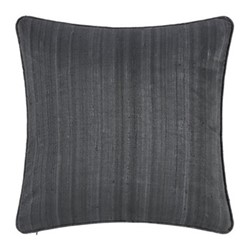 Silk cushion, 45 x 45cm, gunmetal grey