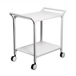 Teatime Trolley, W75 x D48 x H76cm, white ash