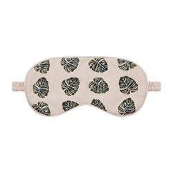 Jungle Leaf Eye mask, H10 x L21cm, natural
