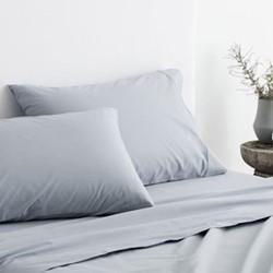 300 Organic Percale Single european pillowcase, 50 x 75cm, river