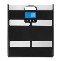 Body Analysis Multi functioning bathroom scales, H2.5 x W31 x D35cm, black