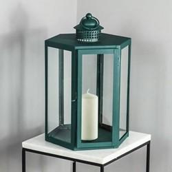Indoor/Outdoor Lantern, W25 x D41 x L27cm, Green