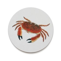 Seaflower Collection Coaster, 10cm, Crab