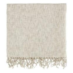 Grain Throw, L130 x W170cm, linen
