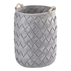 Amy Laundry basket, 40 x 60cm, silver