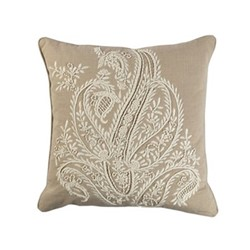 Riveria Cushion, 45 x 45cm, natural/ivory