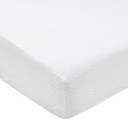 Tua Single fitted sheet, L190 x W90 x H34cm, blush