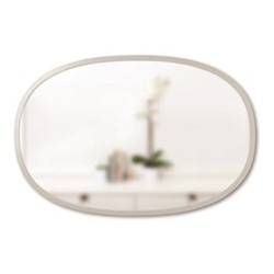 Hub Oval mirror, W91 x L60cm, grey