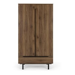 Damien Wardrobe, walnut/black