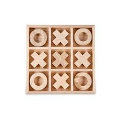 Mango Wood noughts & crosses, 2 x 25 x 25cm, mango wood