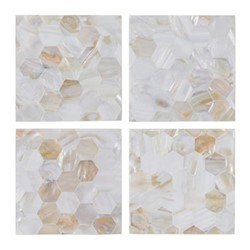 Mother of Pearl Set of 4 coasters, 10 x 10cm