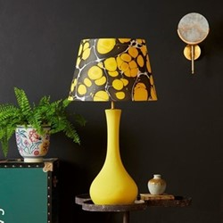 Fogarty Table lamp base only, W20 x H51cm, mustard yellow