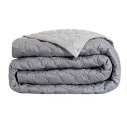 Montaigne Bed cover, L260 x W280cm, silver / steel