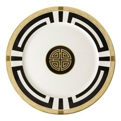 Satori Black Service plate, 30cm, black/white/gold