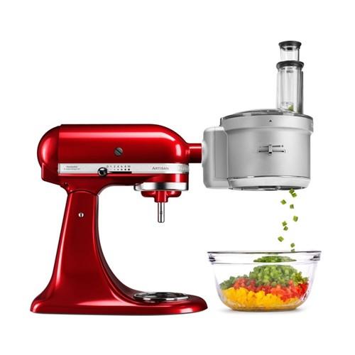 Food processor attachment for mixer, silver