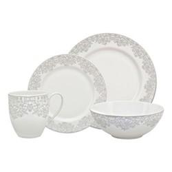 Monsoon - Filigree 16 piece tableware set, silver