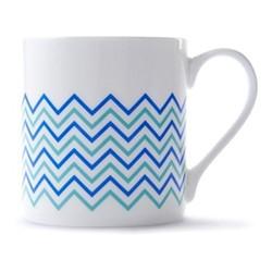 Wave Mug, H9 x D8.5cm, blue/turquoise
