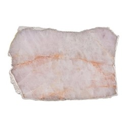 Rose quartz platter, W18-25 x D12.5cm, rose