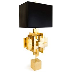 Puzzle Table lamp, W43 x D36 x H94cm, brass/black