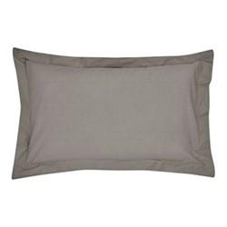 300TC Plain Dye Oxford pillowcase, L74 x W48cm, gunmetal grey