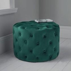 Tufted Velvet stool, H60 x W60 x D42cm, Dark Green