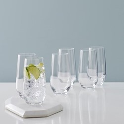 Beaumont Set of 6 highball glasses, 460ml, clear crystal