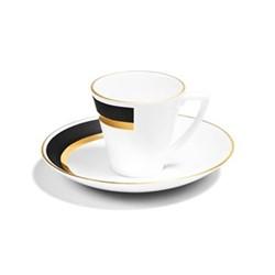 Arc Espresso cup, H6cm - 80ml, matte black/burnished gold