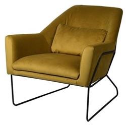 Chair, H79 x W79 x D91cm, amber green