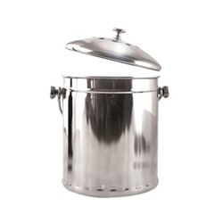 Deluxe compost pail, 28 x 17cm - 4.4 litre, stainless steel