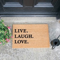 Live Laugh Love Doormat, L60 x W40 x H1.5cm