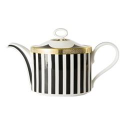 Satori Black Large teapot - charnwood, H15cm, black/white/gold