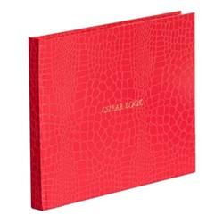 Oyster Bay Large cellar book, L22 x W28.5cm, red croc print