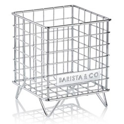 Pod Cage coffee capsule storage, 18 x 14 x 14cm, steel