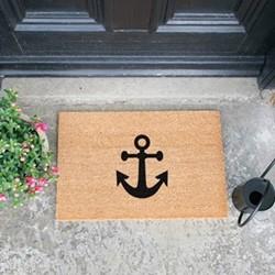 Anchor Doormat, L60 x W40 x H1.5cm