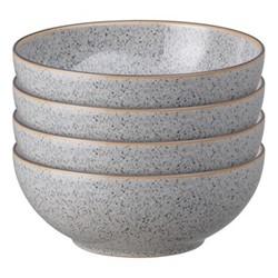 Studio Grey Set of 4 cereal bowls, 17 x 6.5cm, granite
