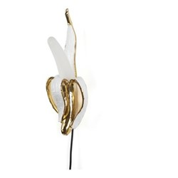 Banana Phooey Lamp, L15 x W5.4 H43cm, white/gold