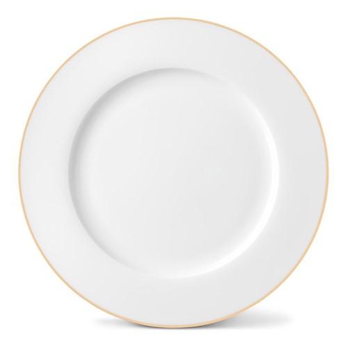Rainbow Collection Dinner plate, 27cm, gold rim
