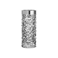 Carat Vase, H2.4 x W10.1cm, glass and aluminium