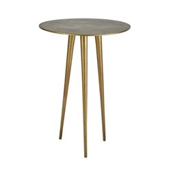 Bastian Side table, H53 x D39cm, gold