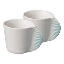Morphose Pair of mugs, H6cm, azure blue
